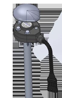 Корпус и крышка датчика контроля расхода топлива