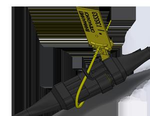 Разъем датчика контроля расхода топлива перед опломбированием