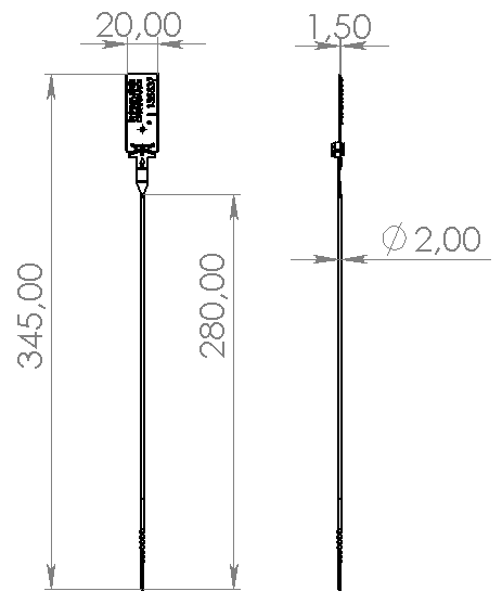 Размеры пластиковой пломбы