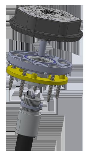 Датчик контроля уровня топлива и качества вождения ДУТ-КВ-Р01