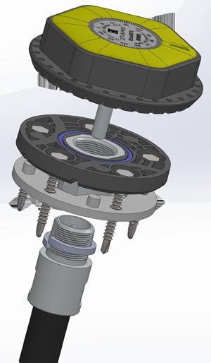 Взрывозащищенный датчик контроля уровня топлива и качества вождения ДУТ-КВ-РВ03