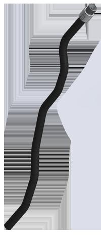 Гибкая концевая измерительная трубка датчика ДУТ-КВ-РВ03